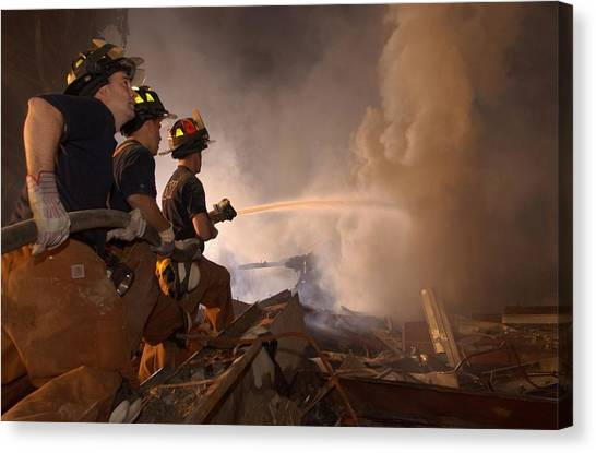Nyfd Canvas Print - New York Firefighters Continue by Everett