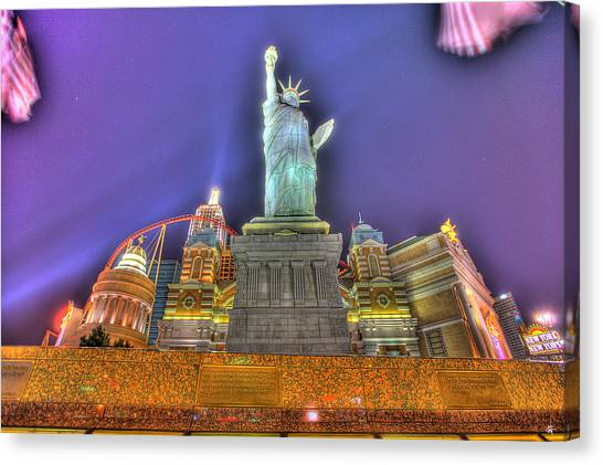 New York Red Bulls Canvas Print - New York In Las Vegas by Nicholas  Grunas