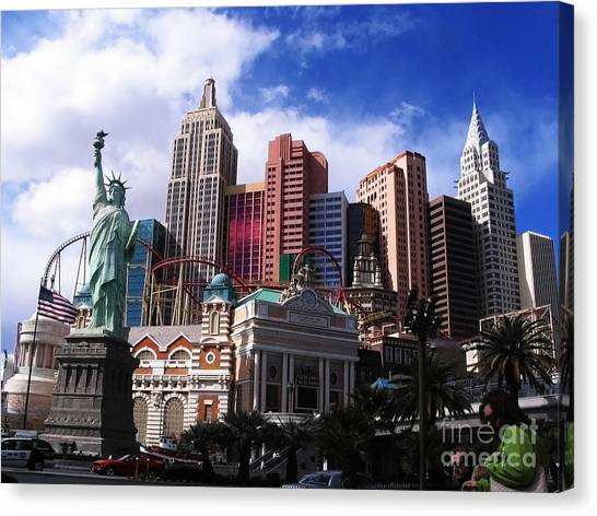 New York New York Hotel Canvas Print by Rachel Duchesne