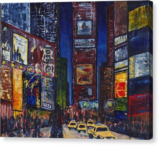 Canvas Print - New York Nights by Cindy Johnston