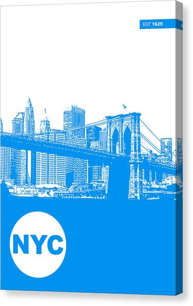 New York Skyline Canvas Print - New York Poster by Naxart Studio