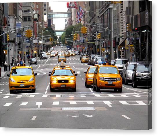 New York Ride Canvas Print by Anthony Chia-bradley