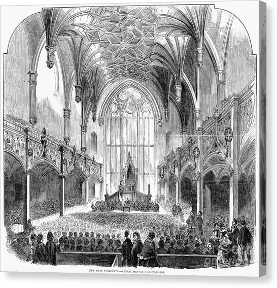 New York University Canvas Print - New York University, 1856 by Granger