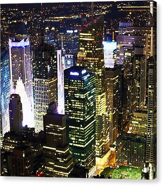 Hurricanes Canvas Print - New York When The Lights Are On by Hurricane Katrina