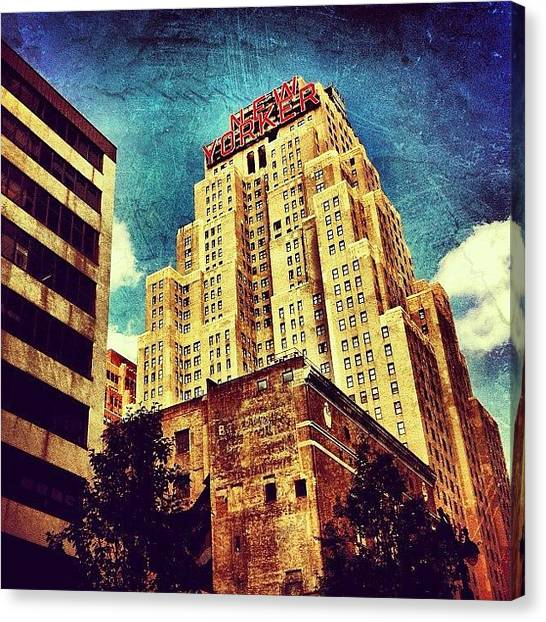 Skyline Canvas Print - New Yorker Hotel by Luke Kingma