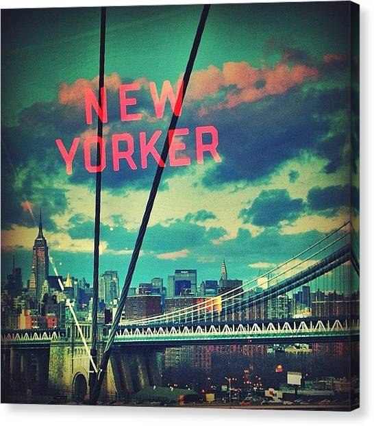 Skylines Canvas Print - New Yorker by Joel Lopez