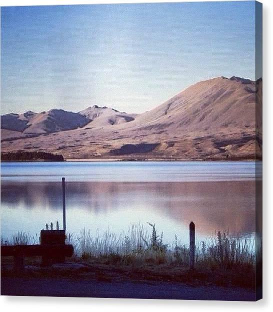 Lake Sunrises Canvas Print - New Zealand Lakeshot /nofilter by Cally Stronk