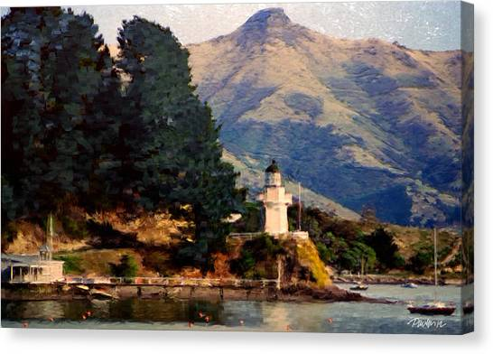 New Zealand Series - Akaroa Lighthouse Canvas Print by Jim Pavelle