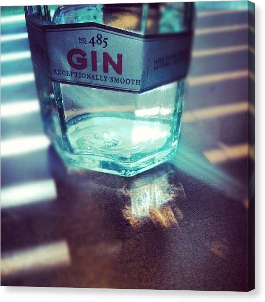 Gin Canvas Print - #newamsterdam #gin by Vince Costello
