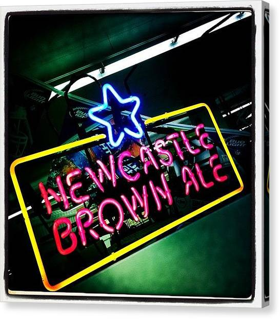 Beer Canvas Print - Newcastle by Torgeir Ensrud