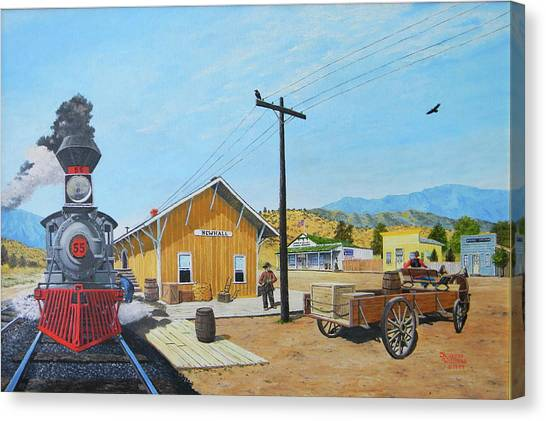 Newhall Station Canvas Print