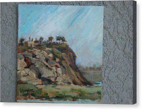 Newport Beach Back Bay Cliff Canvas Print