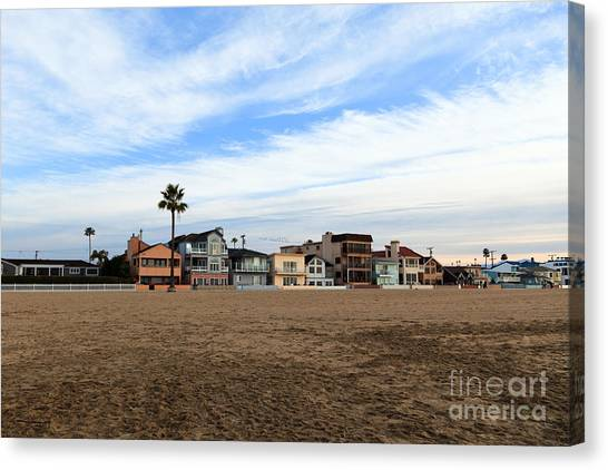 Newport Beach Oceanfront Houses Canvas Print by Paul Velgos