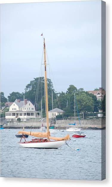 Newport Ri Wooden Sailboat Canvas Print