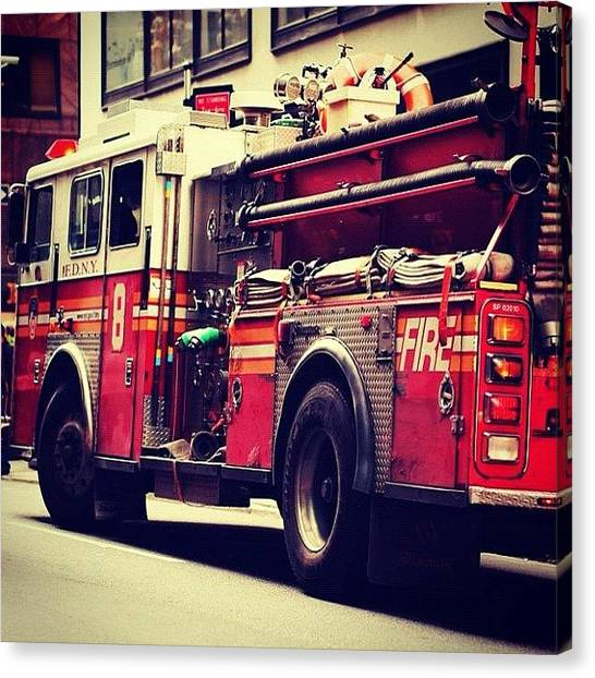 Firefighters Canvas Print - #newyork #bravest #fdny #nyc #firemen by Roman Kruglov