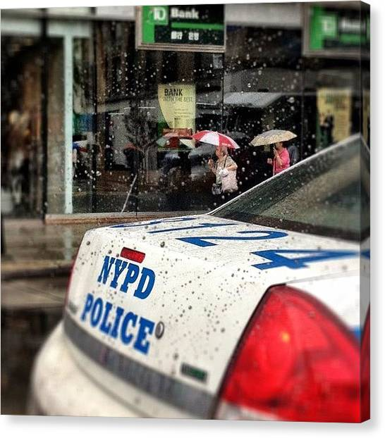 Law Enforcement Canvas Print - #newyorkcity #newyork #nyc #nypd by Taylor Grand