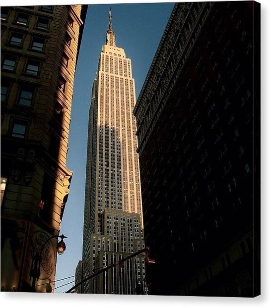 Skylines Canvas Print - #newyorker #newyork #ny #empire by Joel Lopez