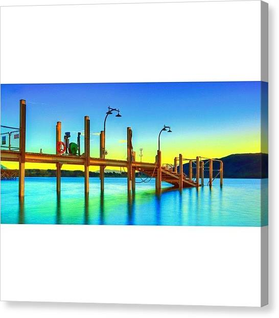 Vacations Canvas Print - #newzealand #nz #au_nz_hotshots #bridge by Tommy Tjahjono