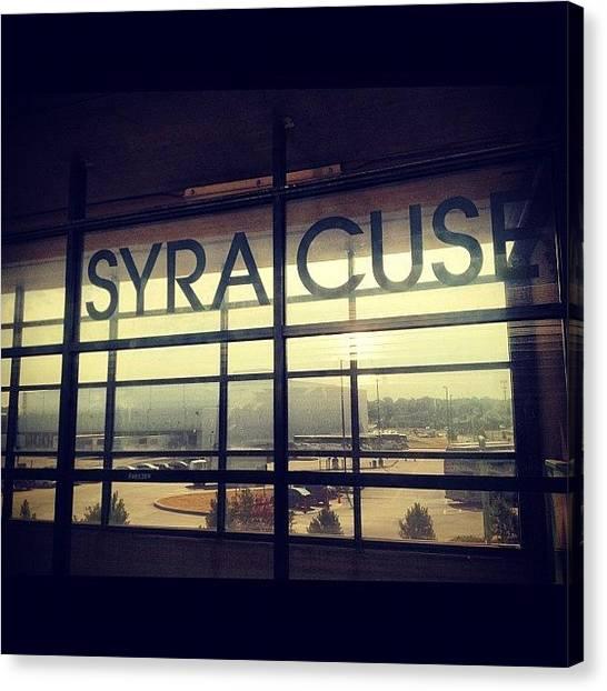 Syracuse University Canvas Print - Next Stop #syracuse #newyork by Mohammed Ali Rukadikar