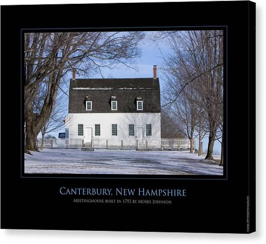 Nh Meetinghouse Canvas Print by Jim McDonald Photography