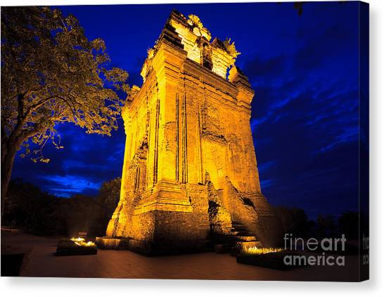 Yen Canvas Print - Nhan Tower.  by MotHaiBaPhoto Prints