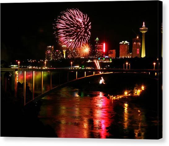 Niagara Falls Fireworks Canvas Print
