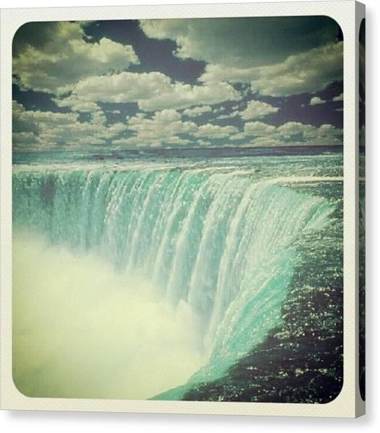 Ontario Canvas Print - #niagarafalls #niagarariver #nature by Josue C