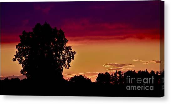Niagra Sunset Canvas Print