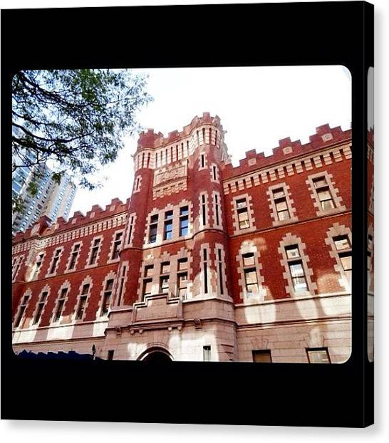 Schools Canvas Print - Nice Building At Manhattan by Luis Alberto