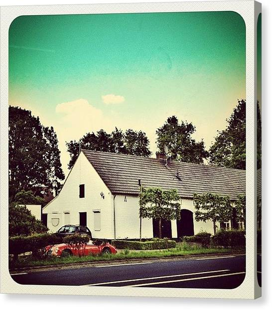 Racing Canvas Print - Nice #car In Front Of A Beautifull House by Wilbert Claessens
