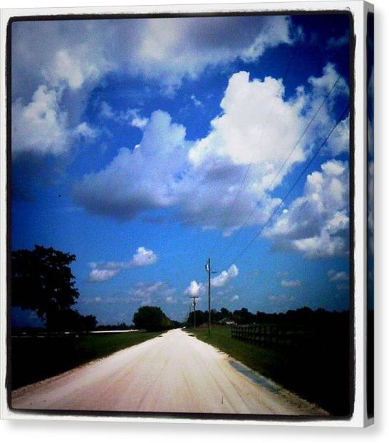 Dirt Road Canvas Print - #nice #day #sunshine #clouds #sunny by Emily W