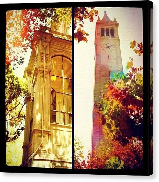 Uc Berkeley Canvas Print - Nice Digs Near The Campanile - Uc Berkeley Ca by Anna Porter