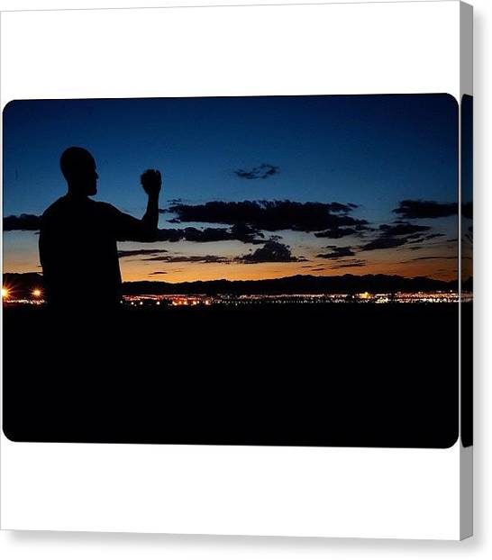 Softball Canvas Print - Nice Sunset In The Las Vegas Valley by Rodino Ayala
