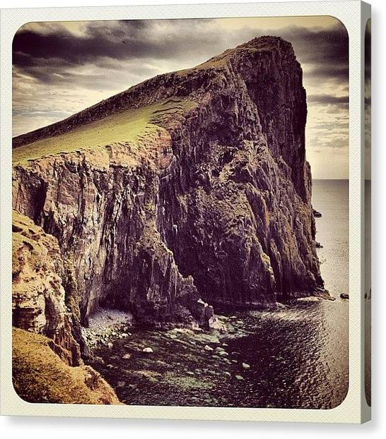 Vertigo Canvas Print - Niest Point Looms.... #isle_of_skye by Robert Campbell