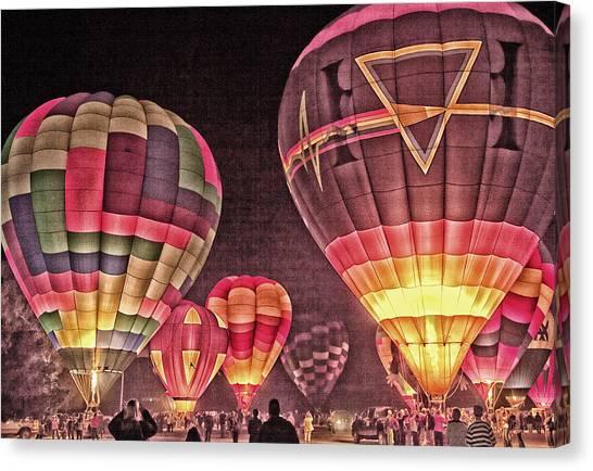 Night Balloon Lighting Canvas Print