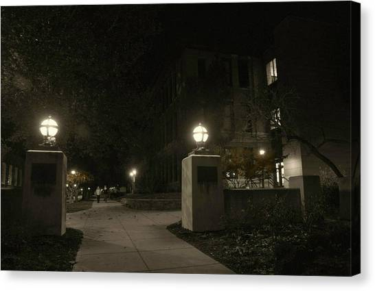 Illinois State University Canvas Print - Night Class by Abraham Adams Photography