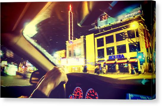 Night Driver Canvas Print by Susan Stone