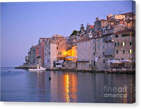 Rovinj Canvas Print - Night Falls Over Croatia by Madeline Ellis