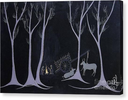 Night Halt Canvas Print