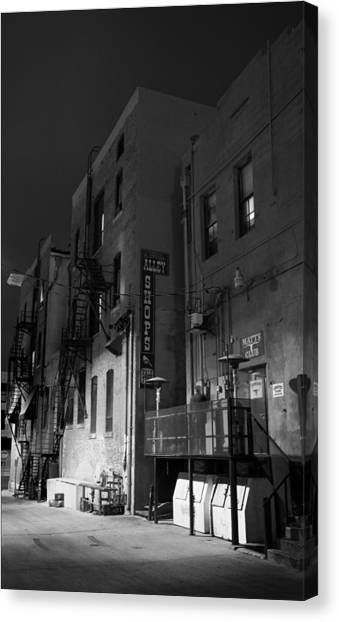 Night In The Alley Canvas Print