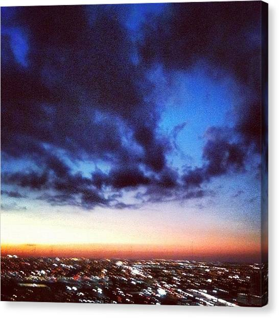 Sunset Horizon Canvas Print - Night Is Falling by Lucie Lacava
