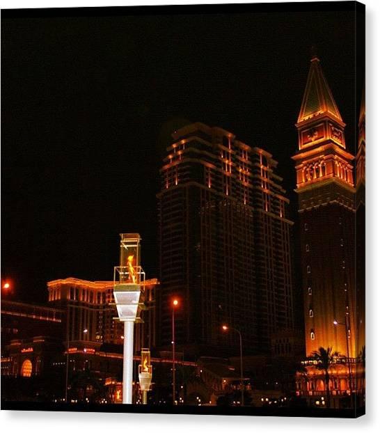 Om Canvas Print - Night Light #night #light #nightlife by Om Bhatia