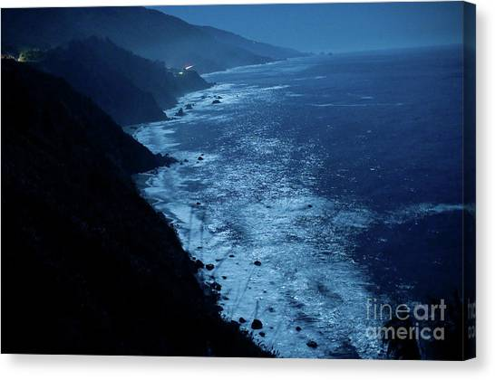 Night Magic In Big Sur Canvas Print by Rossi Love