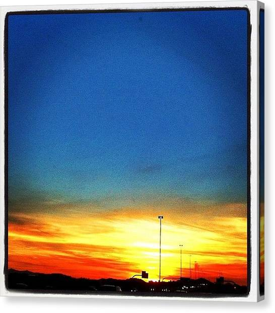 Driving Canvas Print - Night Night! Well, Almost. ☀😃 by John Schultz