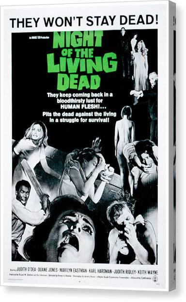 Dea Canvas Print - Night Of The Living Dead, Duane Jones by Everett