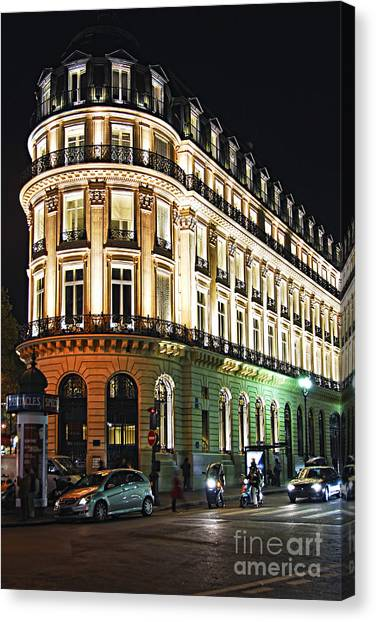 Neoclassical Art Canvas Print - Night Paris by Elena Elisseeva
