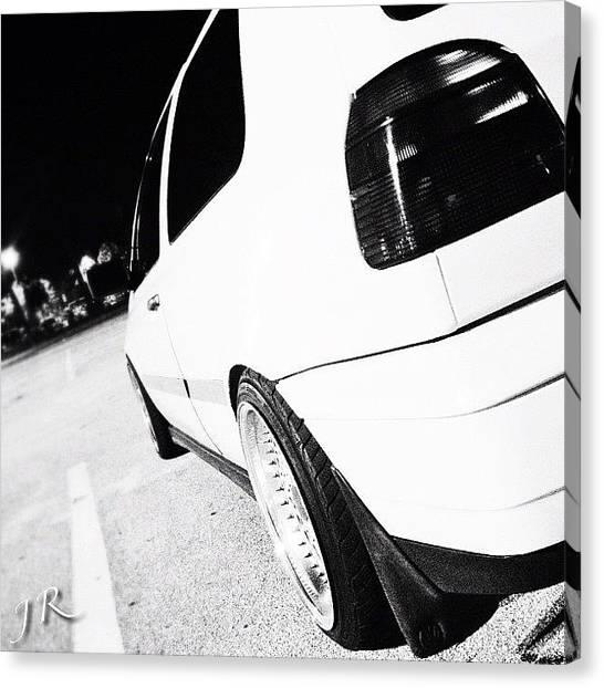 Sports Cars Canvas Print - Night Ride by Jorge Ramirez