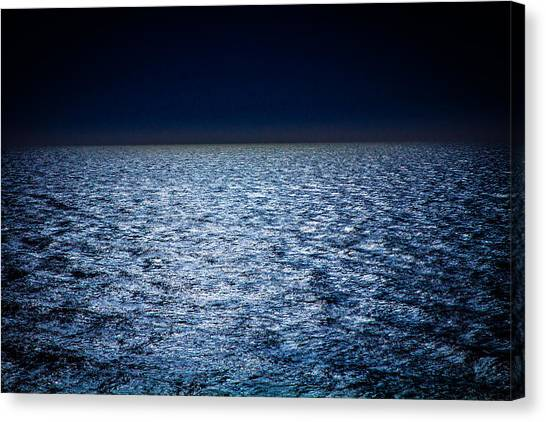 Night Sea Canvas Print by Henny Gorin