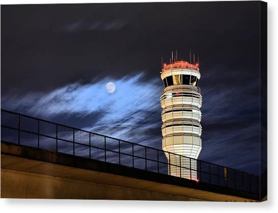 Air Traffic Control Canvas Print - Night Watch by JC Findley