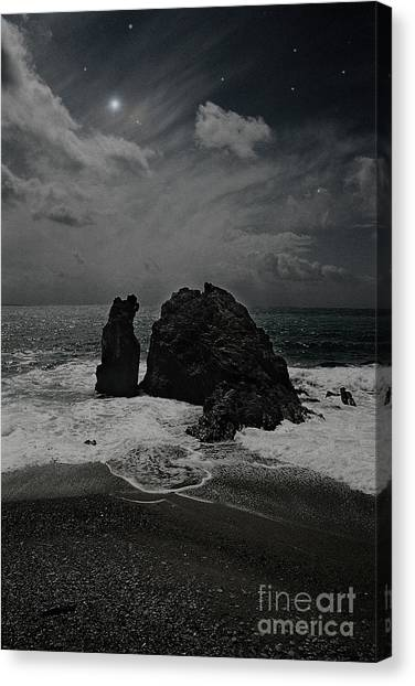 Night Waves Canvas Print by Virginia Furness
